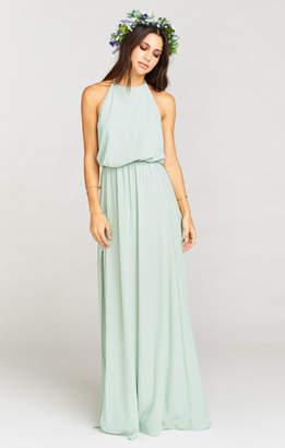 Show Me Your Mumu Heather Halter Dress ~ Dusty Mint Crisp