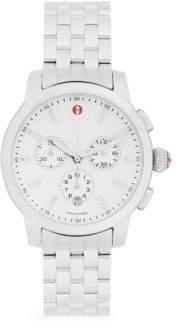 Michele Stainless Steel & Diamond Chronograph Bracelet Watch