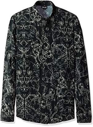 Just Cavalli Men's Rock Grottesque Print Shirt