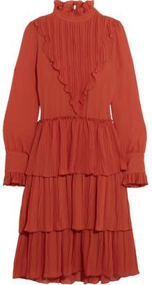 See by Chloe Tiered Ruffled Chiffon Dress
