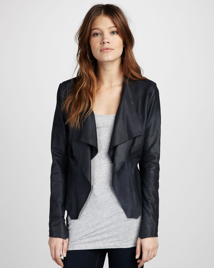 Bod & Christensen Draped Leather Jacket