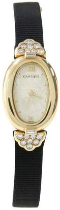 Cartier Baignoire yellow gold watch
