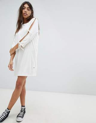 Noisy May Jersey Dress With Tie Detail