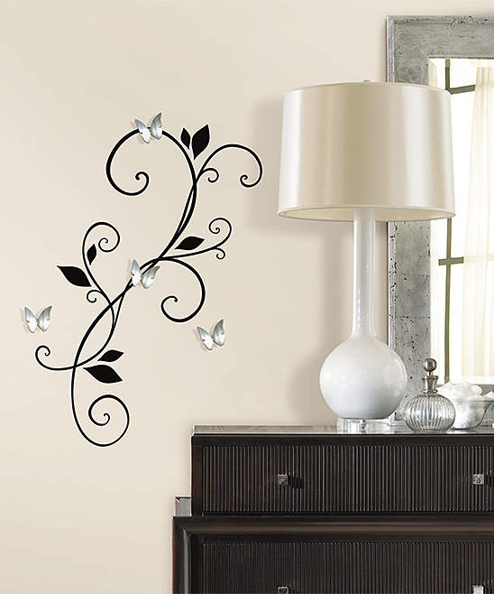 Scroll Sconce Peel & Stick Wall Decal