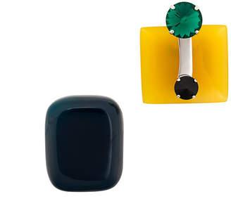 Marni crystal embellished brooch set