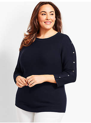 Talbots Links Button-Detailed Sweater
