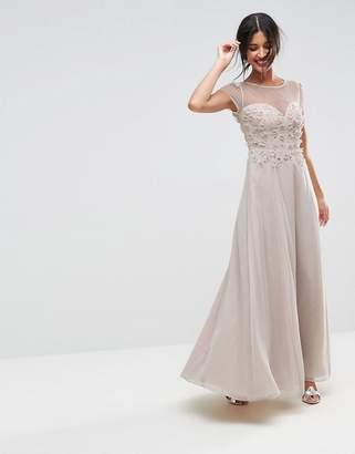 Asos DESIGN Floral Applique 3D Embellished Maxi Dress