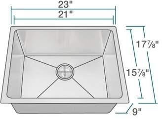 """MRDirect Stainless Steel 18"""" x 23"""" Undermount Kitchen Sink Stainless Steel Thickness: 18-Gauge"""