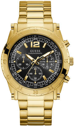 GUESS Men Chronograph Gold-Tone Stainless Steel Bracelet Watch 46mm