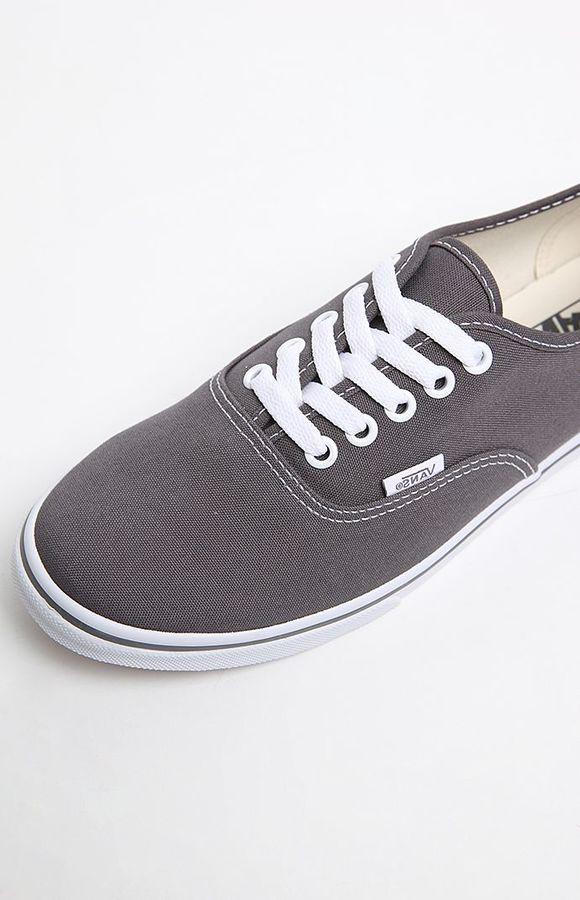 Vans Pewter Authentic Lo Pro Canvas Sneakers