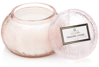 Voluspa Japonica Panjore Lychee Embossed Glass Chawan Bowl Candle