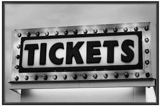 Pottery Barn Vintage Movie Framed Print - Tickets