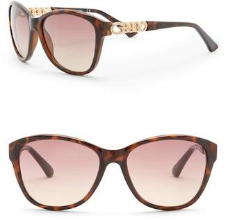 GUESS 58mm Modified Cat Eye Sunglasses