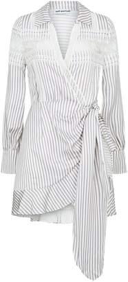 Self-Portrait Striped Wrap Mini Dress
