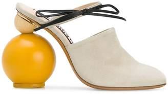 ball-heel mules