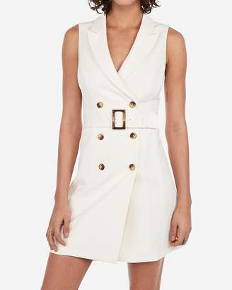 Express Sleeveless Belted Suit Dress