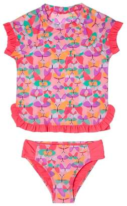 Hula Star Butterfly Cutie Two-Piece Rashguard Swimsuit