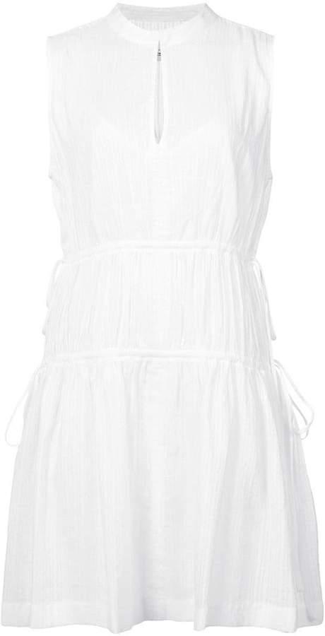 Derek Lam 10 Crosby Short Sleeve Dress With Tie Detail