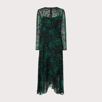 LK Bennett Roe Green Silk Dress