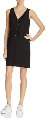 PAIGE January Lace-Up Shift Dress $199 thestylecure.com
