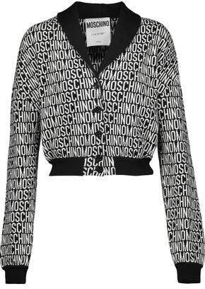 Moschino Cropped Wool-Jacquard Cardigan