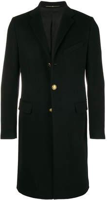 Givenchy logo button mid-length coat