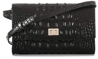 Brahmin Kennedy Croc Embossed Leather Crossbody Bag