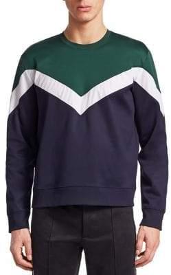 Valentino Chevron Stripe Sweatshirt