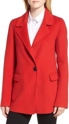 Badgley Mischka Collection Double Face Wool Blend Blazer