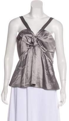Christian Dior Embellished Silk Halter Top