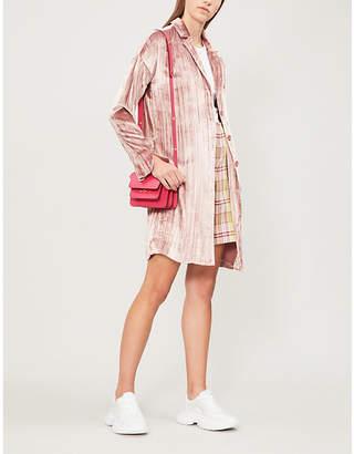 J Brand Fashion Regan velvet duster coat