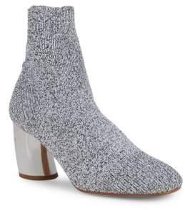 Proenza Schouler Metallic Curved Heel Sock Booties