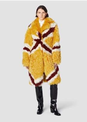 Derek Lam 10 Crosby Multicolor Diamond Shearling Coat