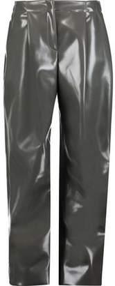 Acne Studios Selah Glossed-Faux Leather Wide-Leg Pants
