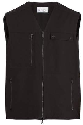 Raey Sleeveless Cotton Fishing Jacket - Mens - Black