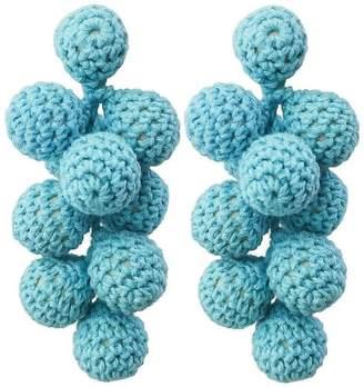 """Ricardo Rodriguez Design """"Eden"""" Crocheted Earrings"""