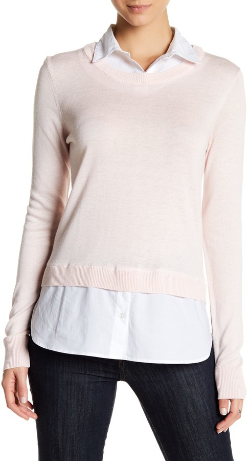 SUSINA Shirttail Sweater 2