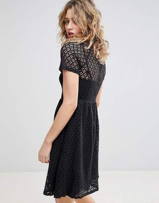 Ichi Lace Skater Dress
