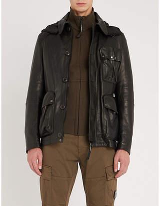 C.P. Company Asymmetric leather jacket