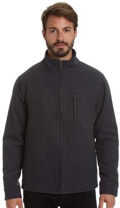 Haggar Big & Tall Stretch Wool-Blend Open-Bottom Jacket