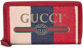 Gucci Print zip around wallet