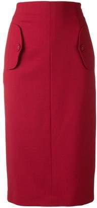 Incotex flap pockets pencil skirt