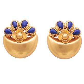 Lapis Carousel Jewels Blue Gold Earrings