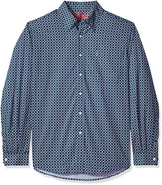 Cinch Men's Modern Fit Long Sleeve Button One Open Pocket Print Shirt