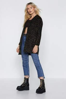 Nasty Gal Tail Me Baby Leopard Coat