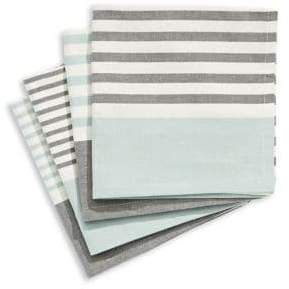 Jamie Oliver Set of Four Striped Cotton Napkins
