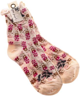 Free People Floral Print Ankle Sock