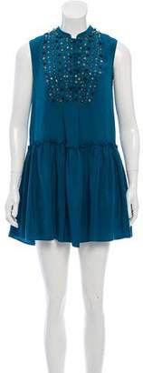 Gryphon Embellished Silk Dress