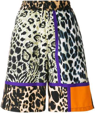 Pierre Louis Mascia Pierre-Louis Mascia leopard panel shorts