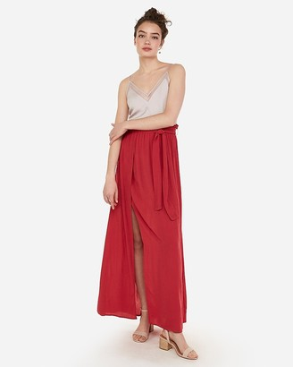 Express High Waisted Sash Tie Wrap Maxi Skirt
